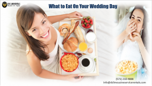 What to Eat On Your Wedding Day